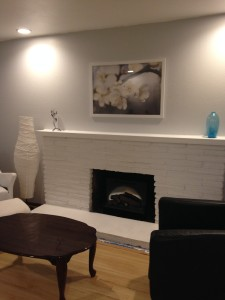 beautified fireplace